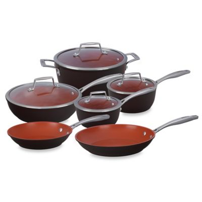Bialetti® Terracotta Xtra 10-Piece Cookware Set in Brown