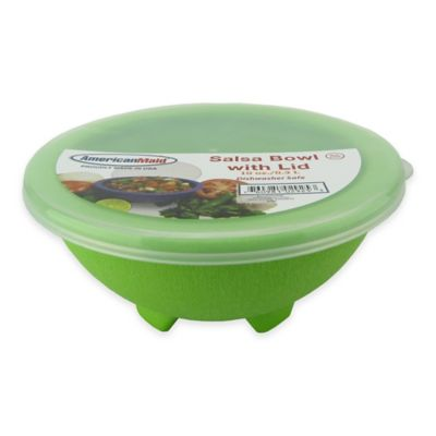 Small Salsa Bowl with Lid in Green