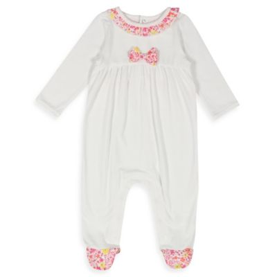 Absorba® Size 0-3M Floral Footie in Pink/White