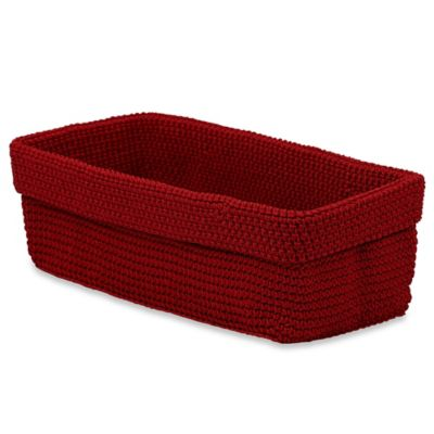 Crochet Large Storage Basket in Red