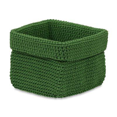 Crochet Small Storage Basket in Green