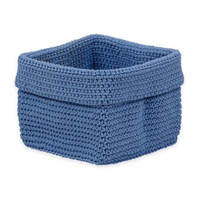Crochet Small Storage Basket in Baby Blue