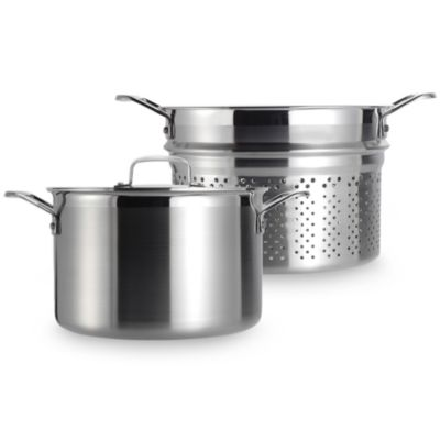 Le Creuset® Stainless Steel 7 1/2-Quart Pasta Pot with Insert