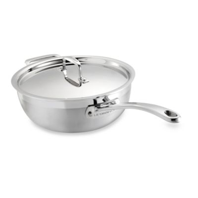 Le Creuset® Stainless Steel 3 1/2-Quart Covered Chef's Pan