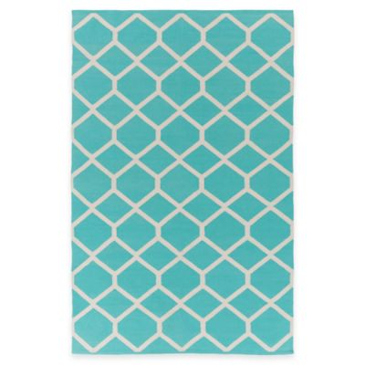 Artist Weavers Vogue Elizabeth 2-Foot x 3-Foot Accent Rug in Light Blue