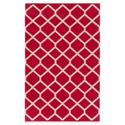 Artist Weavers Vogue Elizabeth 5-Foot x 7-Foot 6-Inch Area Rug in Red