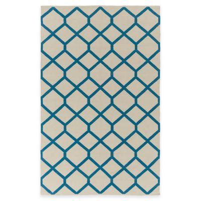 Artist Weavers Vogue Elizabeth 5-Foot x 7-Foot 6-Inch Area Rug in Ivory/Blue