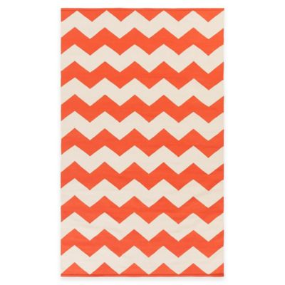 Artist Weavers Vogue Collins 8-Foot x 10-Foot Area Rug in Coral