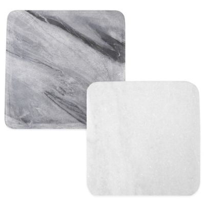 Thirstystone® Square Marble Trivet in White
