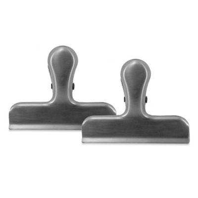 Kitchen Innovations Stainless Steel Bag Clips (Set of 2)