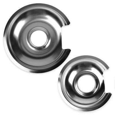 2-Pack Chrome Drip Pans