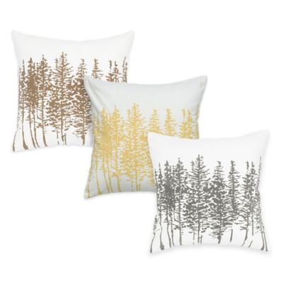 Yellow Brown Decorative Pillows