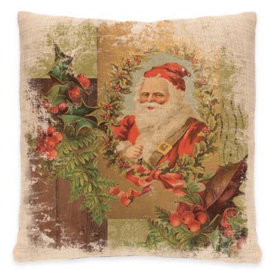 Heritage Lace® Woodland Christmas Santa Square Throw Pillow