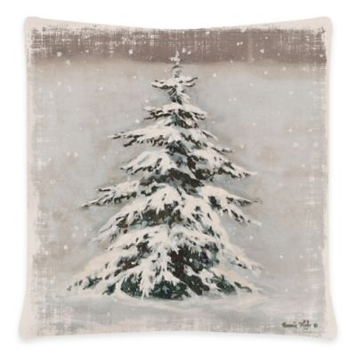 Heritage Lace® Yuletide Square Throw Pillow in Oyster