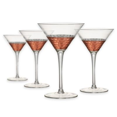Artland® Coppertino Hammered Martini Glasses (Set of 4)