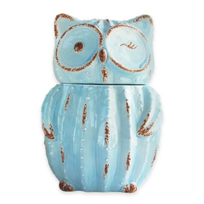 American Atelier Owl Canister in Blue