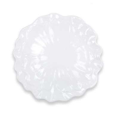 Q Squared Peony 16-Inch Round Serving Platter in White