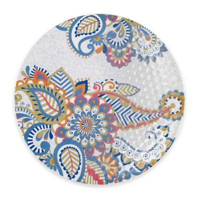 Q Squared Sanibel 16-Inch Round Serving Platter in Blue/Multi