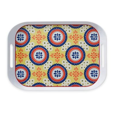 Q Squared NYC Montecito Blue Large Serving Tray