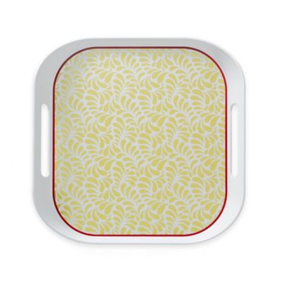 Q-Squared Montecito Red Small Serving Tray
