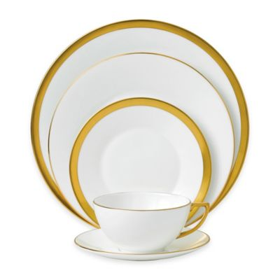 Wedgwood® Jasper Conran Gold 5-Piece Place Setting