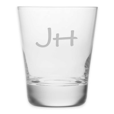 Monogrammed Double Old Fashioned Glasses