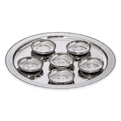 Classic Touch Tervy Beaded Round Seder Plate