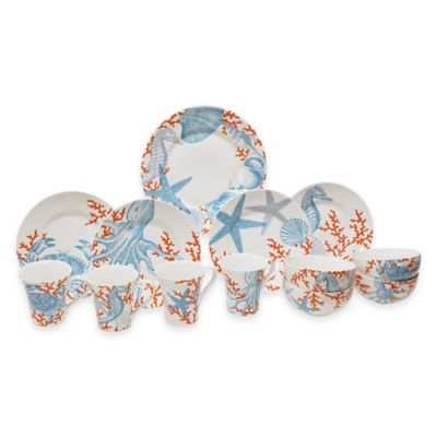 Coastal Life Grenada 16-Piece Dinnerware Set