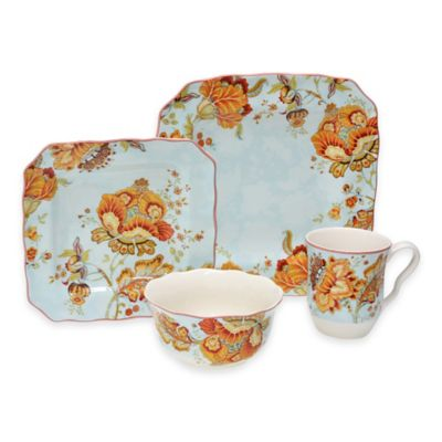 Gabrielle 16-Piece Dinnerware Set in Spring Blue