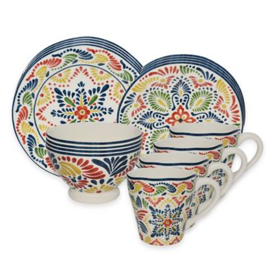 Alicante 16-Piece Dinnerware Set in Yellow
