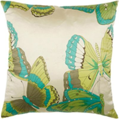 Rizzy Home 18-Inch Butterfly Throw Pillow in Teal