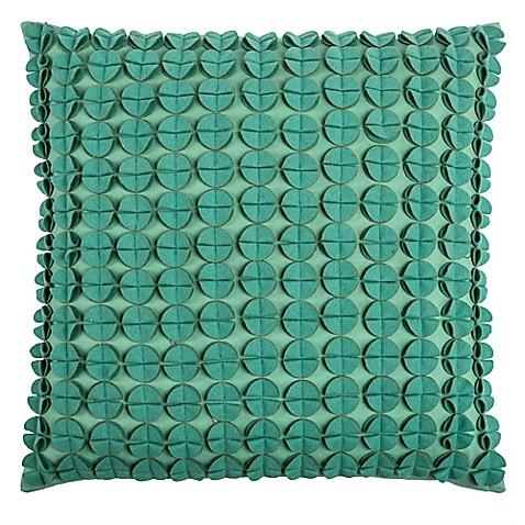 Rizzy Home Hand Sewn Felt Circle Square Throw Pillow