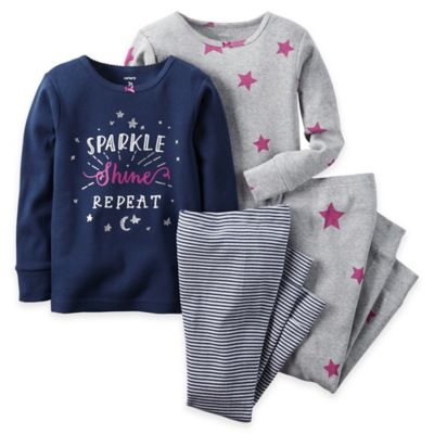 carter's® Size 2T 4-Piece Sparkle Long-Sleeve Pajama Set