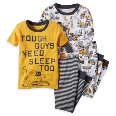 carter's® Size 2T 4-Piece Construction Pajama Set in Yellow