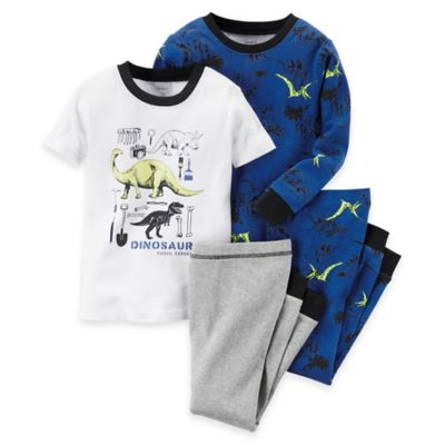 carter's® Size 2T 4-Piece Dinosaur Pajama Set in Blue
