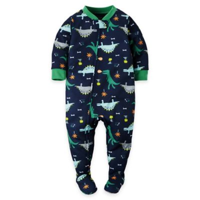 carter's® Size 3T Zip-Front Dino Footed Pajama in Navy