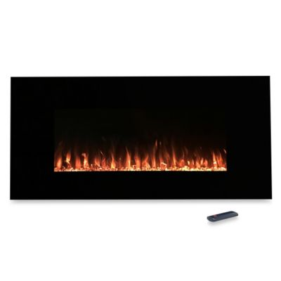 Northwest 54-Inch Fire and Ice Electric Fireplace Heater in Black