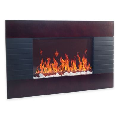 Black Mahogany Fireplace Heater