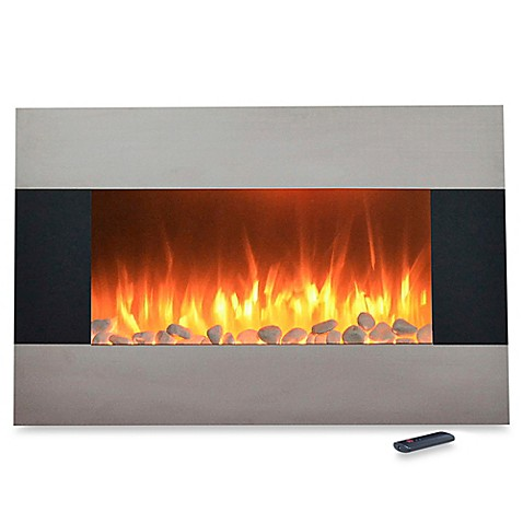 Buy Northwest 36 Inch Stainless Steel Electric Fireplace Heater In Black From Bed Bath Beyond