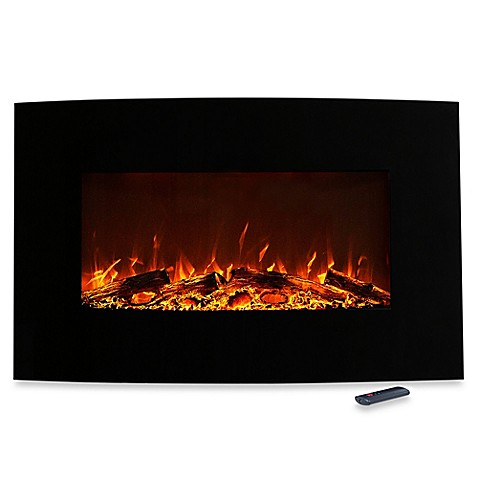 Northwest Curved Color Changing Electric Fireplace Heater