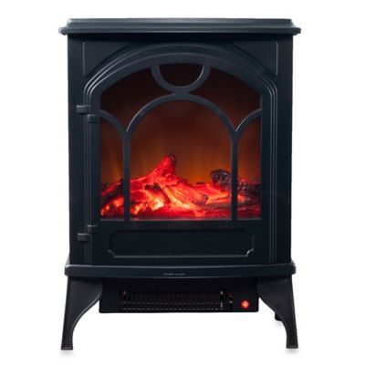 Northwest Electric Log Fireplace Heater in Black