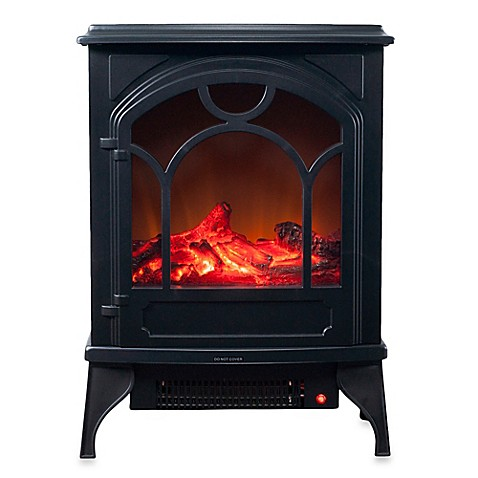 buy northwest electric log fireplace heater in black from