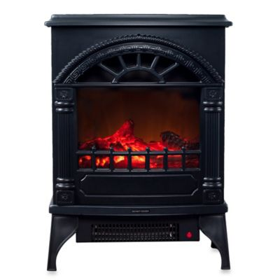 Northwest Freestanding Electric Log Fireplace Heater in Black