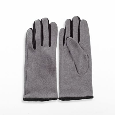 Contrast Gloves in Grey