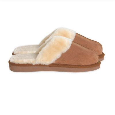 Catherine Malandrino Size Small Shearling Slipper in Chestnut