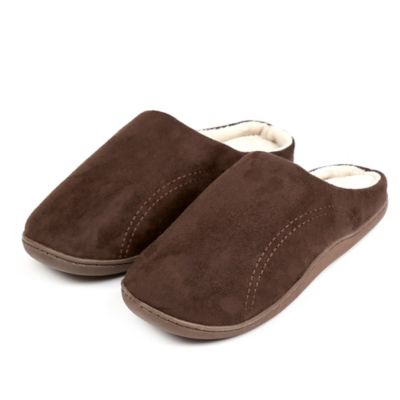 Men's Large Memory Foam Slipper in Chocolate