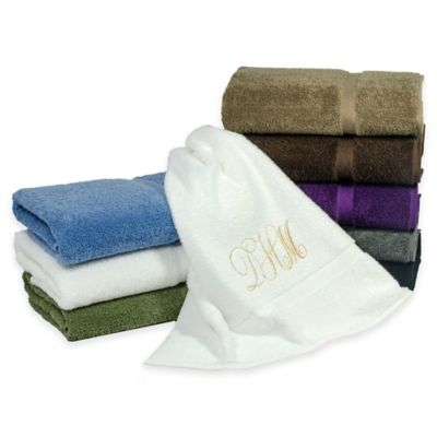 Avanti Monogram Bath Towels