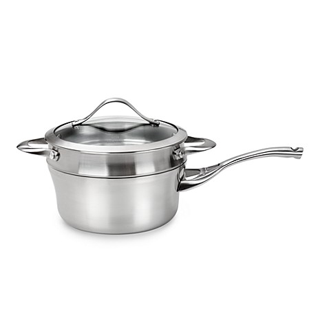 Calphalon® Contemporary Stainless Steel 2.5-Quart Saucepan with Double Boiler & Cover