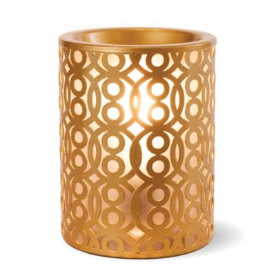 Sleek Gold Ceramic Wax Warmer