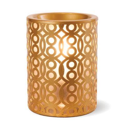 Sleek Gold Ceramic Wax Warmer